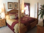 King Master bedroom 1 with TV, DVD, walk in closet and en-suite