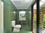 Ensuite with toilet and shower,