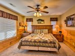 This home boasts 5 well-appointed bedrooms.