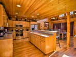 Ample counterspace and an open space will make cooking a breeze in the kitchen.