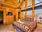 Sleep easily in the loft's king bed.