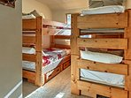 The bunk bed room is perfect for friends or siblings sharing a room on holiday.
