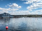 Head over to the marina for leisurely lakeside activities in the designated swimming area!
