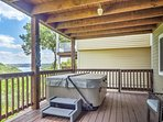 Hop in the private Jacuzzi on the lower deck for a relaxing evening at home.