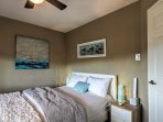 Drift off into  a deep sleep in the queen bed in the second bedroom.