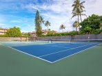 Tennis Courts Located At The Resort
