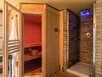 the cave with the sauna and the emotional shower