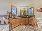 Master Bath with Soaking Tub, Stone Shower and Dual Vanities