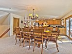 Kitchen and Dining Area with Private Deck with Hot Tub and BBQ Grill