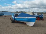Original fishing coble based in newbiggin by the sea
