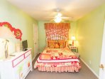 Cute bedroom just off the main living area.  Queen size bed