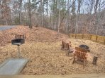 Improved Firepit, Grill and open to Waterfall Below