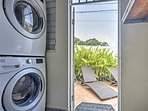 A washer and dryer and included for your added convenience.