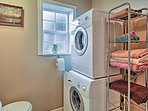 Keep your clothes fresh and clean with the convenient washer and dryer.