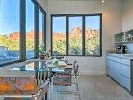 Enjoy mountain views through all of the windows in the studio.