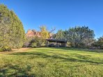 The 2.25-acre property is beautifully landscaped.