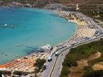 Mellieha Bay. Malta's Most Biggest Sandy Beach Just 10 Minutes By Bus.