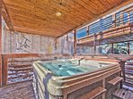 Private Deck with Hot Tub