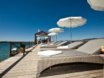 Luxury private sun bathing areas - you deserve it!
