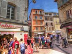 Visit the old town district of Antibes.