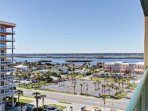 From the balcony, get a birds eye view of the Intracoastal Waterway.
