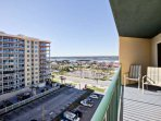 View from balcony facing south west with the Intracoastal Waterway in the distance.
