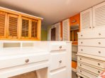 Surrounding the twin bed is a desk, plenty of dresser drawers.  Fun tucked away spot for kids to play, hangout and...