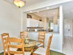 Dining Room with Seating for 6; Enjoy Home Cooked Meals When Staying at this Condo Rental!