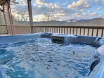 Hot Tub View located on lower level