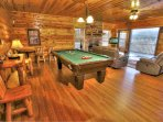 Pool Table and View of Mountains