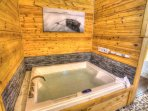 Jacuzzi with Heated Air and Light Therapy.