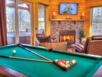 Real Slate Pool Table.