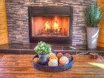 Crackling Wood Burning Fireplace