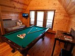 Slate Pool Table and Futon Bed