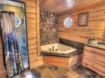 Master Jacuzzi Bath with Walkin River Walk Shower w Slate