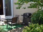 Nicely Landscaped Rear Patio w/ Grill & Seating