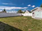 Large Fenced in Yard Area