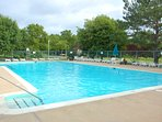 Passes are provided for the pool, which is a short walk from the residence.