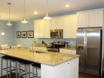 Gorgeous Kitchen w/ Stainless Steel Appliances & Granite