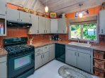A beautiful warm kitchen to cook in.