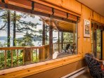A walk out deck from the master bedroom ensures you will not miss a moment of the sweeping magical views.