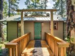 Special touches welcome you to this adorable cabin.
