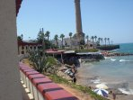 Playa de Las Canteras y Faro de Chipiona.