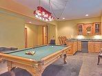 Billiard room with a bar - great entertaining area