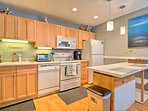 The fully equipped kitchen has everything you need to make your favorite recipes.