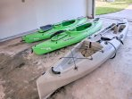 Take the provided kayaks out on the lake!