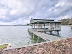 Utilize the private boat house with 2 boat slips for fun on the water!