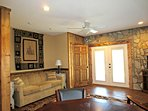 Lower Level Queen Sleeper Sofa & Game Area