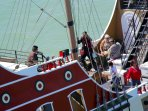 Great for kids as well as adults. Black Dragon Pirate Ship cruises.