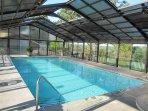 The indoor pool is 4 to 5 feet deep.